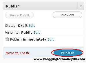 blogging for money - publish